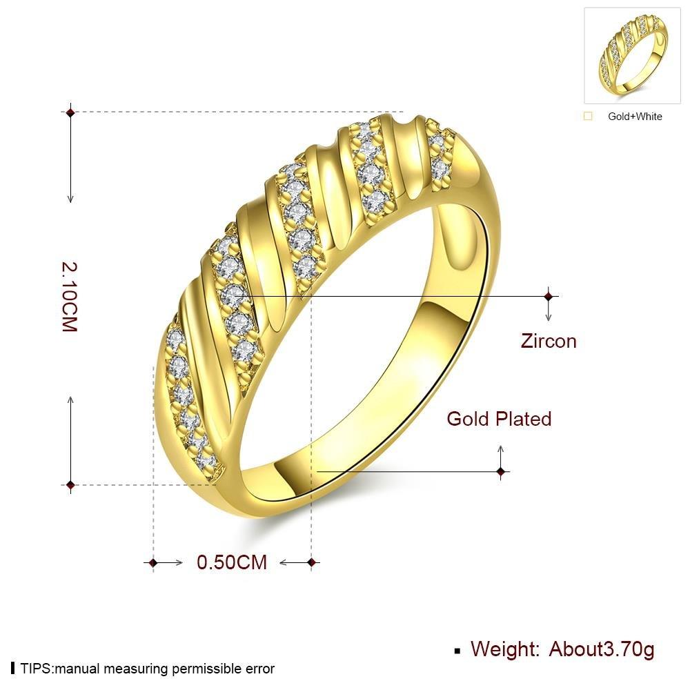 Anello Di Zirconia per la Modellazione Geometrica Della Lega Di Protezione Dell'Ambiente , oro , 7