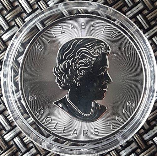 Silber Leaf Maple Kanada (1 Unze oz Silber Maple Leaf 2018 bei uns einzeln in Münzkapseln verpackt)