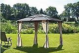 Design Pavillon Stahl Gartenzelt Partyzelt Garten Zelt Überdachung Sonnenschutz