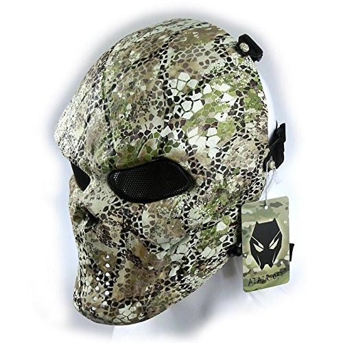 ATAIRSOFT Tactical Schützende Paintball Airsoft Kunststoff Hockey Cosplay Böse Half Face Maske FW