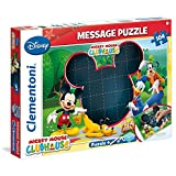 Clementoni 20232.4 - Message Puzzle Mickey Mouse Club Haus, 104 Teile