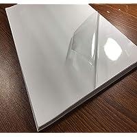 Lot de 25 feuilles de papier autocollant en vinyle transparent imprimable format A4 (21 x 29,7 cm) étanche pour…