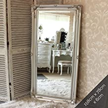 Tamaño grande plateado de pared espejo de suelo/