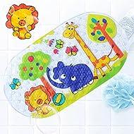 Alfombrilla de baño antideslizante para bebés con Alfombrilla antideslizante para bañera o ducha Duradero PVC resistente a hongos y mohos Numerosas ventosas resistentes