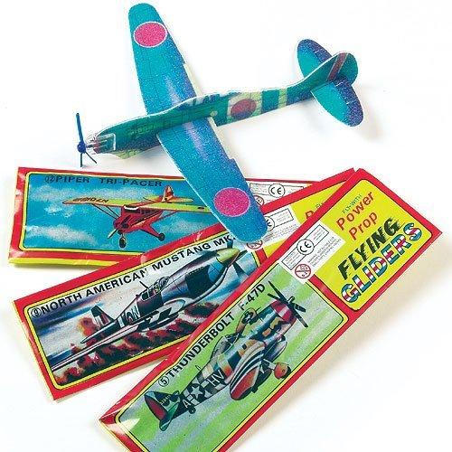 Preisvergleich Produktbild Gleitflugzeuge - zum Spielen für Kinder - als Preis und Mitgebsel für den Kindergeburtstag - 6 Stück