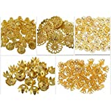 Generic Fancy Most Popular Gold Bead Cap Designs For Jewellery Making, Pack Of 250 Caps