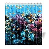 Violetpos Duschvorhang Koralle Meer Fisch Hochwertige Qualität Badezimmer 180 x 200 cm