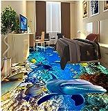Weaeo Moderne Aufkleber 3D-Stock Unterwasser Unterwasserwelt Korallen Fische 3D Bodenfliesen, Aufkleber 3D-Bodenbeläge, Pvc-Folie, Selbstklebend Wand