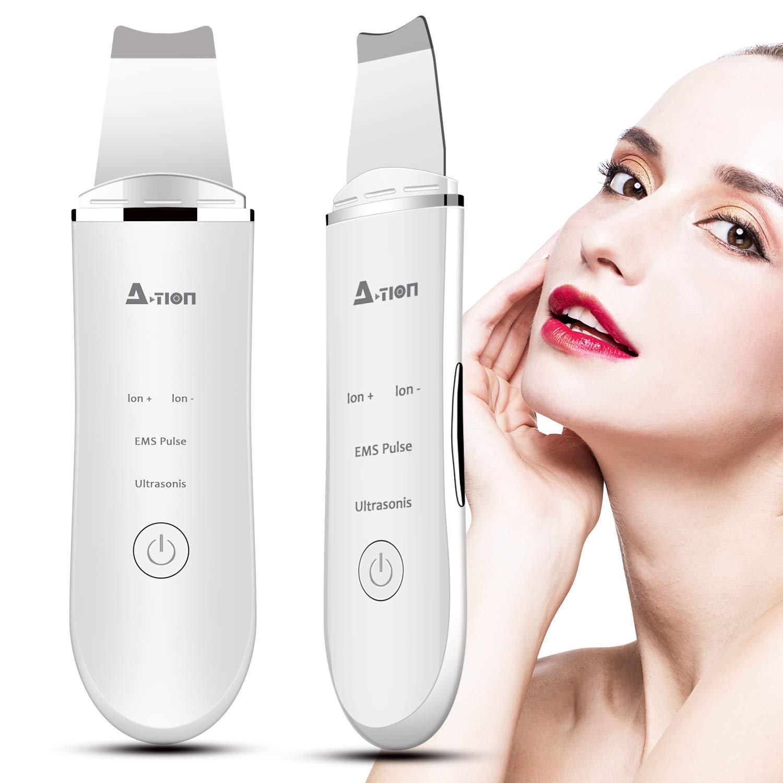 Skin Scrubber Depurador Ultrasónico Facial, 2NLF Limpiador Ultrasónico Facial 4 In 1 Electric Blackhead Remover para Puntos Negros y Espinillas, Masajeador Facial, USB Charge