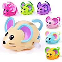 Bluelanss Cute Cartoon Animal Rat Wind Up Toy Running Clockwork Mouse Baby Kids Gift for Kids Boys Girls Xmas Gifts Xmas Stocking Fillers Party Bag Gifts