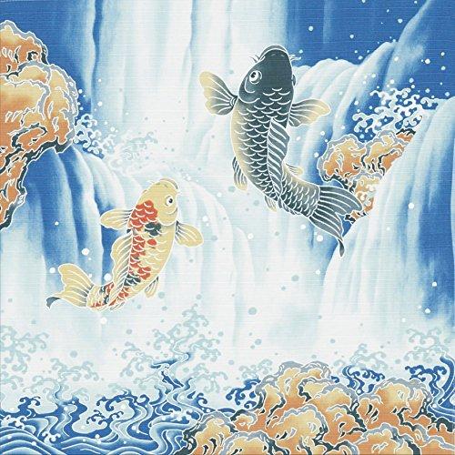 """Japonés 19.75""""algodón saltando carpa caja de Bento Furoshiki gamuza de tela de regalo"""