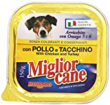 Miglior Cane - Alimento Completo Per Cani, Con Pollo E Tacchino - 22 pezzi da 150 g [3300 g]