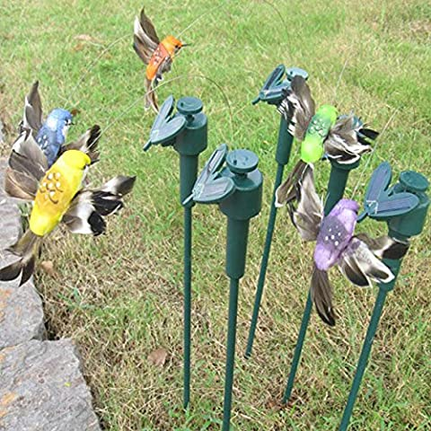 Artificial Solar Power Hummingbird Rotation Fluttering Bird Garden Chemin Flowerpot DŽcoration