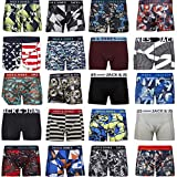 JACK & JONES Boxershorts 4er Pack Mix Trunks Boxer Short Unterhose S,M,L,XL,XXL, Mehrfarbig, XL