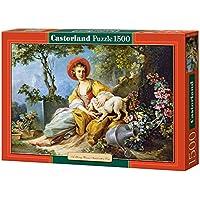 Castorland - Giovana donna seduta con il cane Puzzle