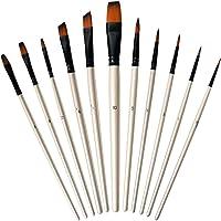 Spatola e Spugne per Dipingere Acrilico Inchiostri Acquerelli Gouache FT-SHOP Pennelli per Dipingere Set di 15 Pennelli Pittura con Custodia