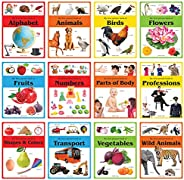 Early Learning Picture Books Boxset: Pack of 12 Picture Books for Kids (Wipe & Clean)- Alphabet, Animals,