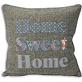Sweet Cottage Home Sweet Home Denim Cushion Case 45cm x 45cm