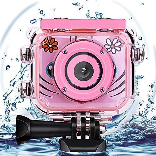 """Wimaha Kids Kamera Childs 1080P HD Digitalkamera Wiederaufladbare Action Kamera Unterwasservideokamera wasserdichte Kamera Geburtstagsgeschenk Festival Spielzeug für Kinder mit 2.0"""" LCD-Bildschirm"""