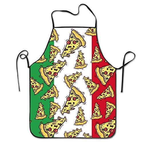 Lustige Schürze Chef Küche Kochen Schürze Lätzchen Pizza Slice Italien Flagge italienische Lebensmittel zu Hause bequem Chef Pizza