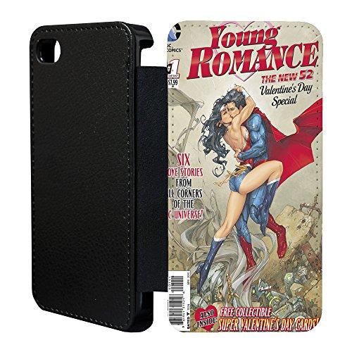 DC Marvel Comic Book Étui à rabat pour Apple iPhone 5& 5S–�?9 Young Romance - 864