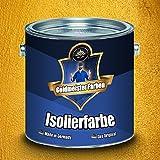 Goldmeister Farben Anti-Schimmel-Farbe in Weiß Isolierfarbe besonders geruchsarm Nikotinsperre auf Acrylatharz Basis (2,5 L)