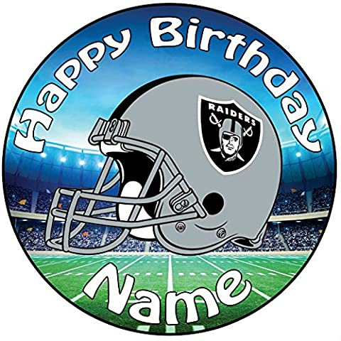 Personalised American Football NFL Oakland Raiders Icing Cake Topper - 8