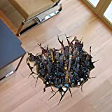 BL 3D-High-Definition dreidimensionale Mode Boden Aufkleber kreative Aufkleber dekorative Malerei Wohnzimmer Schlafzimmer Gartengeschoss ohne Klebstoff verlassen (59 * 57cm)