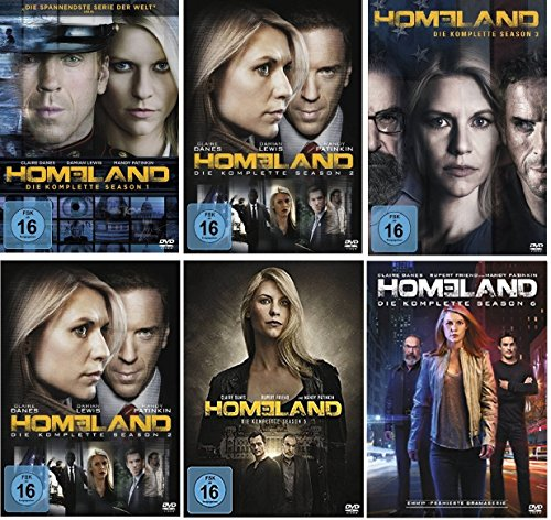 Homeland Staffel 1-6 (1+2+3+4+5+6) [DVD Set] -