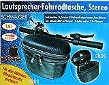 Fahrradtasche mit Stereo-Lautsprecher von Schwaiger