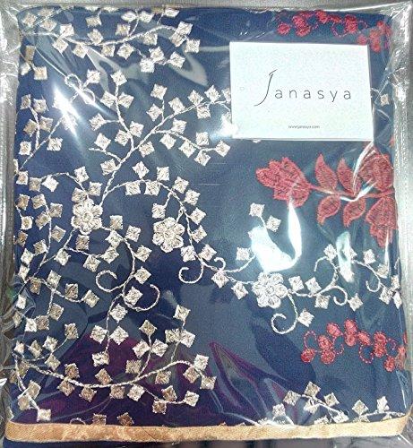 Janasya Women's Georgette Dress Material (HS-DR-003.A_Blue)