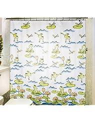 D G F Cortina de ducha de poliéster Interior y exterior de baño Cortina impermeable de niebla de alta calidad Multi-tamaño Opcional ( Tamaño : 120*200cm )