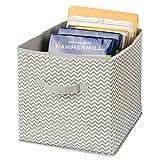 mDesign grande boîte de rangement pour le bureau, atelier, studio – panier de rangement pour ranger fichiers, papier d'imprimante, etc. – bac de rangement de mDesign – couleur : taupe/nature