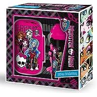 Preisvergleich für Monster High Brotdose+Trinkflasche Set Geschenkverpackung Flasche mit Öffnungsautomatik PL