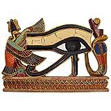 Design Toscano Decorazione egizia L'occhio di Horus Scultura a parete, poliresina, a colori, 30 cm