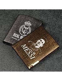 WEII Billetera Estrella de fútbol Neymar C Ronaldo Messi Monedero Corto Fanlet Monedero Creativo Regalo,