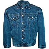 Wholesale Workwear New Mens Jeans Designer Long Sleeved Collared Classic Denim Jacket Heavy Duty Coat Vintage Retro Scooter Casual Stonewash