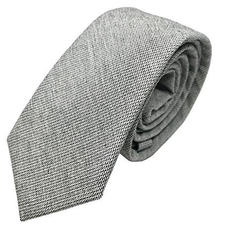 good. Designs Slim-Fit de Line Tie corbata Hombre corbata, en diferentes colores, gris, ajustable