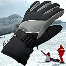 Lepakshi Gray One Size: Winter Sports Gloves Windproof Waterproof Skiing Snowboard Guantes Winter Guantes Skiing Ski Gloves Men