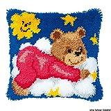 Vervaco PN-0014185 Knüpfkissen 3619 Teddy