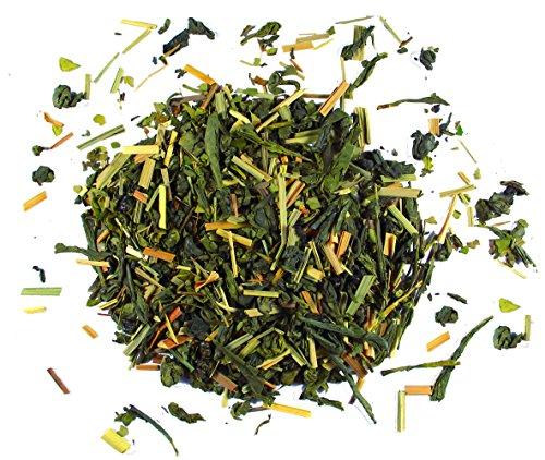 BIO Grüner Wachmacher | Koffein aus Matcha-Pulver Grüner-Tee und Mate-Tee | Morgen-Tee als Kaffeeersatz | Tee-Geschwister | 100g