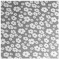Wachstuch Tischdecke Gartentischdecke Abwaschbar Blumen Grau - Größe wählbar von Moderno - Gartenmöbel von Du und Dein Garten