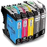 OfficeWorld Reemplazo para Brother LC223 Cartuchos de tinta Alta Capacidad Compatible para Brother DCP-J562DW 4120DW MFC-J480DW J680DW J880DW J4420DW J4620DW J4625DW J5320DW J5620DW J5625DW J5720DW (2 Negro, 1 Cyan, 1 Magenta, 1 Amarillo)