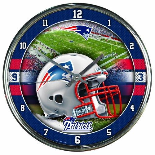 NFL Chrome Uhr Wanduhr New England Patriots