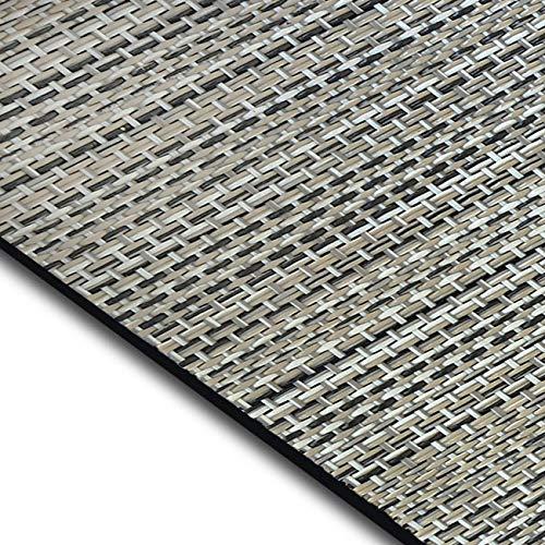 casa pura Design Bodenschutzmatte Matera in 6 Größen   dekorative Unterlegmatte für Bürostühle oder Sportgeräte (150 x 90 cm)