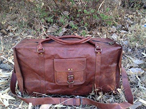 True Grit cuir Outlaw cuir Valise de voyage de nuit - 24 cm