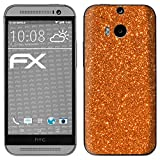 atFolix HTC One M8 / M8s Skin FX-Glitter-Orange-Juice Designfolie Sticker - Reflektierende Glitzerfolie
