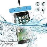 KingSnow Unisex Youth 1 Handy Hülle, Wasserdichte Handyhuelle für iPhone 6 / 6s / 7 8 Plus, Schneegeschützt Tauchen Unterwasser Fotografieren S6 / Samsung S7 / Galaxy S8, Blau transparent, 40,8 g