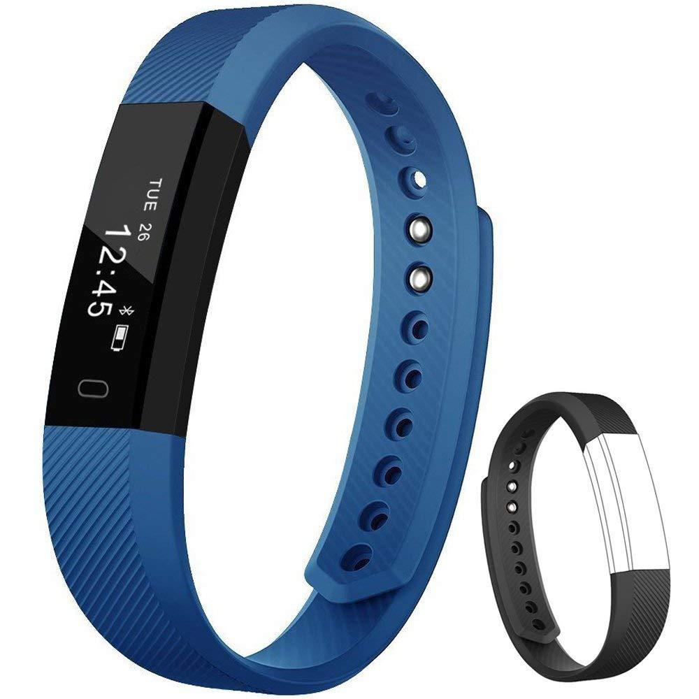 Rayfit Pulsera Actividad Inteligente Reloj Deportivo Fitness Tracker Monitor de Sueño Contador de Calorías Reloj Cuenta… 1