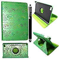 Kamal StarŽ Samsung Galaxy Tab E 9.6 T560 T561 Smart Book Cover Case - Ultra Slim Light Weight Stand Supports 360 Viewing Angles with Auto Sleep/Wake Feature + Free Stylus ( Rose Green Diamond)